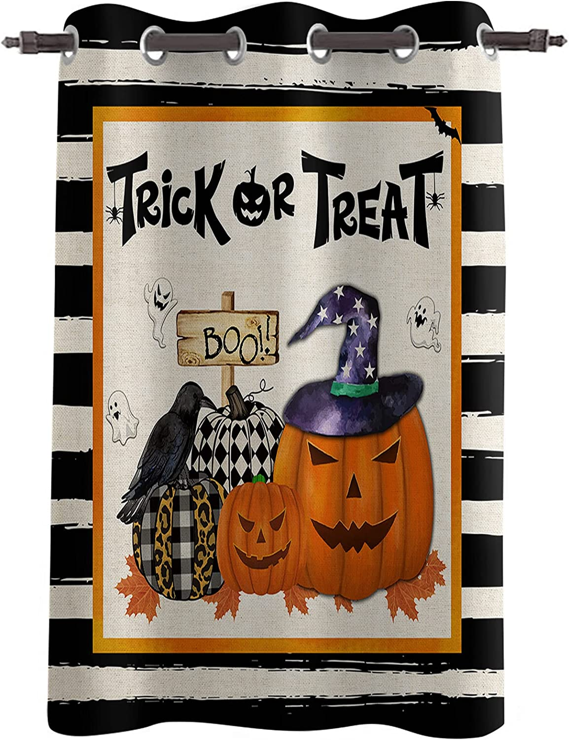 Sales results No. 1 Blackout Window Curtains Halloween Pumpkin Washington Mall Crow Thermal Ghost In