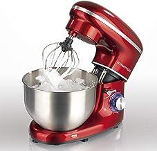 GOURMETmaxx Küchenmaschine mit Rührfunktion, Große Edelstahlschüssel, Leistungsstark mit Direktantrieb, 2in1 Knetmaschine und Rührmaschine 1500 Watt, Rot