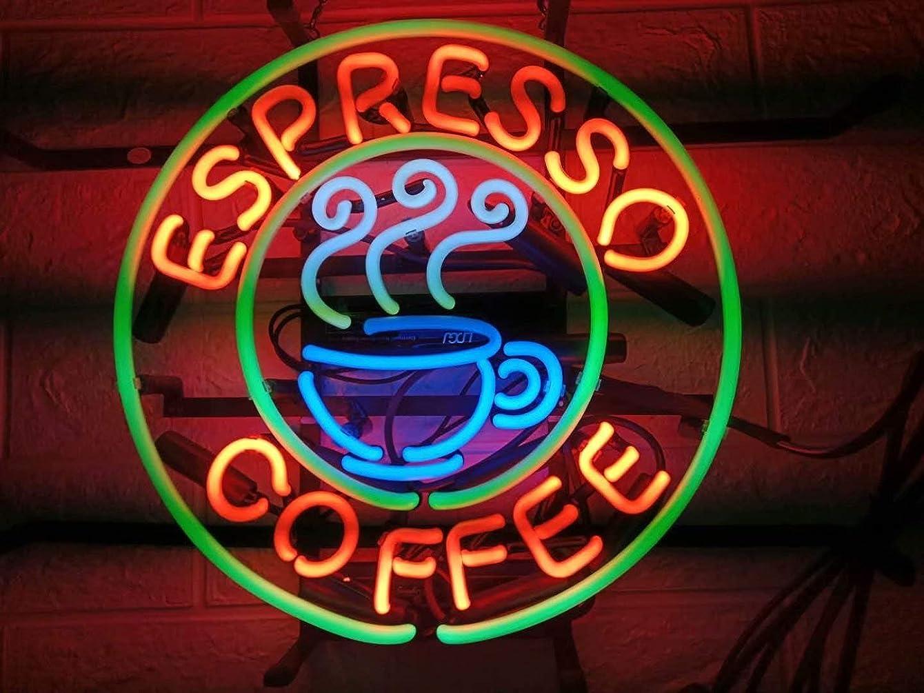 LDGJ Neon Signs for Wall Decor Handmade Sign Home Espresso Coffee Cafe Custom Beer Bar Pub Recreation Room Lights Windows Glass Party