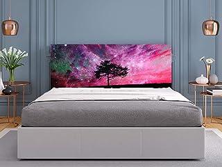 Oedim - Cabecero Cama PVC Árbol y Cielo Rosa 135x60cm | Disponible en Varias Medidas | Cabecero Ligero, Elegante, Resistente y Económico