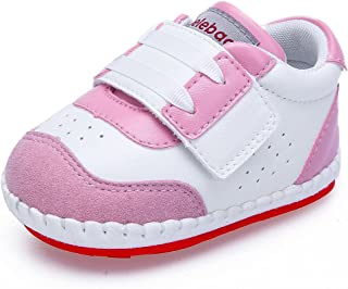 Delebao Baby Non-Slip First Walking Shoes Rubber Sole Sneaker
