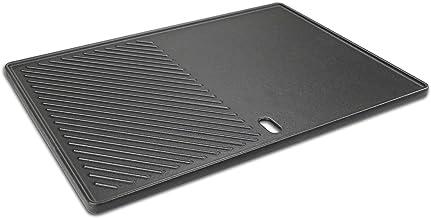 GFTIME 43,4 x 32cm Plancha de Plaque Cuisson pour EMAILLEE Triton 3 et 4 Bruleurs, Fonte Plaque Barbecue à gaz Pièce de Re...