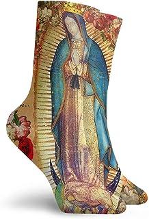 Calcetines de vestir para hombre y mujer, de Nuestra Señora de Guadalupe Virgen María Católica México Poster bota manguera larga para yoga
