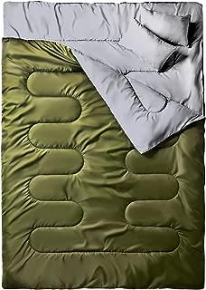 150cm Duvet Double D/étachable avec 2 Oreillers 0 /° C 32F ~ 10 /° C Sac de Couchage 2 Places 220 Ohuhu Double Sac de Couchage 50F Adulte