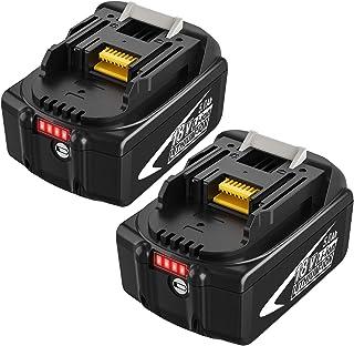 2X 18V 5.0Ah BL1860B Repuesto Batería para BL1860 BL1840 BL1840B BL1845 194205-3 194309-1 194204-5 196399-0 196673-6 LXT-4...