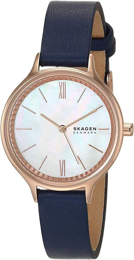 SKW2864 Rose Gold Blue Leather