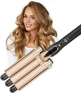 LAYADO 3 Barrel Curling Iron Hair Waver Cluer 22mm (0.86 Inch) Temperature Adjustable Three...