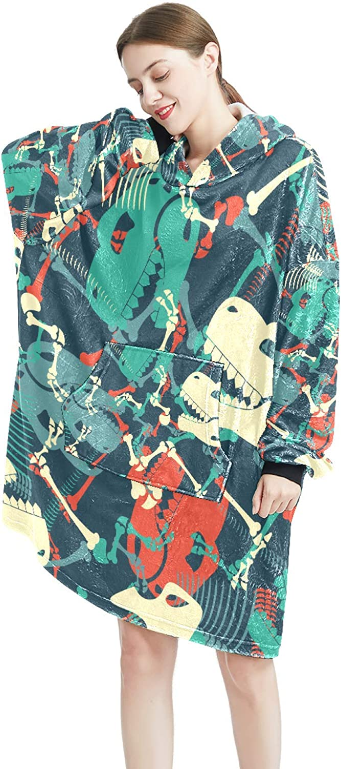 Cozy Oversized Maternity Hoodie Challenge the lowest price Max 68% OFF of Japan ☆ Blanket Dinosaur Print Skull Pul
