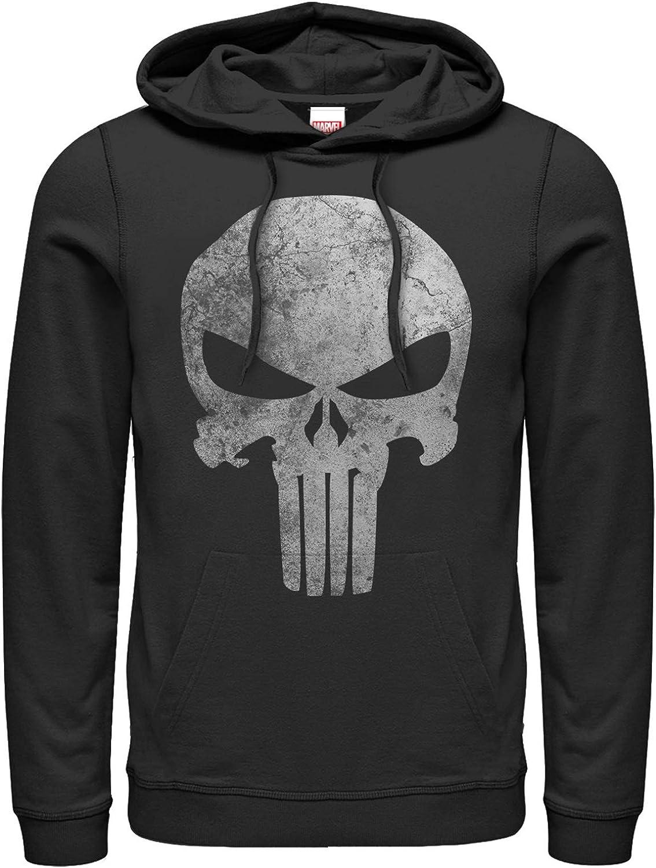 Men's Marvel Punisher Retro Skull safety Max 74% OFF Hoodie Over Pull Symbol