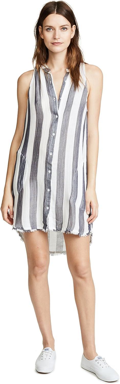 Bella Dahl Womens Tencel Striped Shirtdress