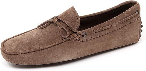 D0014 Mocassino hombres Light marrón TOD'S New Laccetto zapatos Loafer zapatos Man