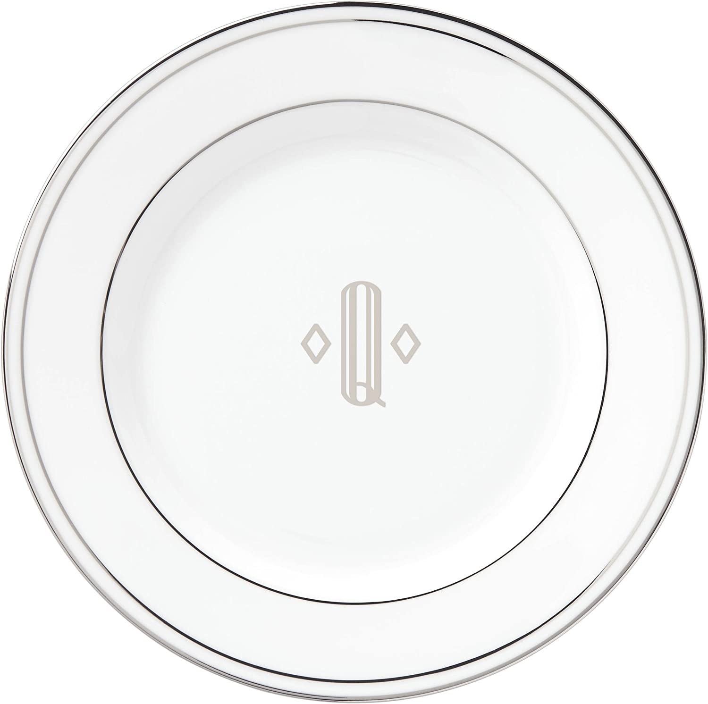 Lenox Federal New popularity At the price Platinum Block Monogram Bread Dinnerware Butter Pl