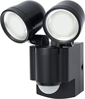 LB1403QBK Battery Operated LED Motion Security Light, Twin Head (Includes 4