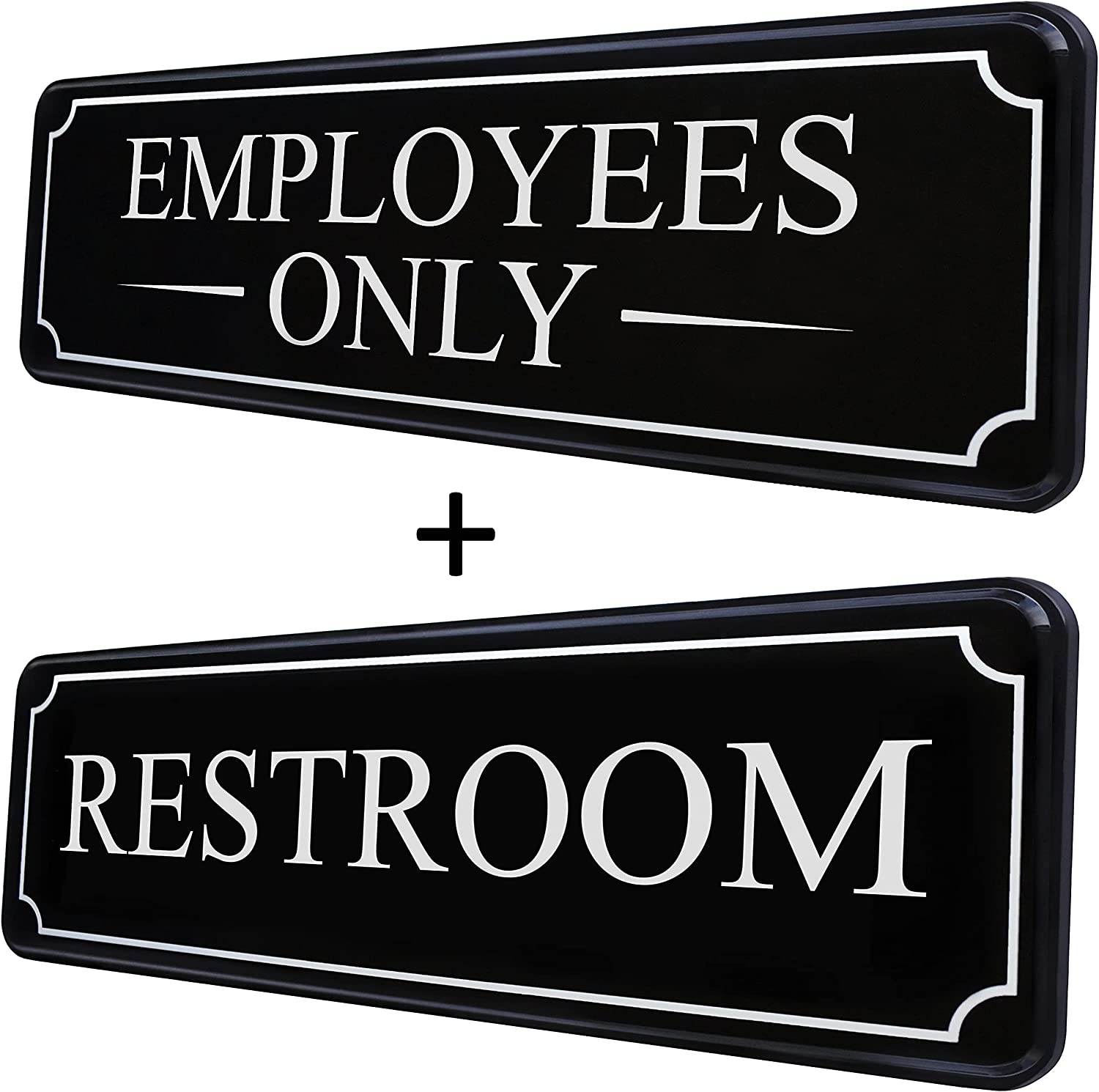 MolnijaPro - Employees Only Sign Mail order cheap 1 + piece Restroom 70% OFF Outlet