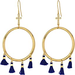 Vanessa Mooney The Demi Tassel & Cross Hoop Earrings