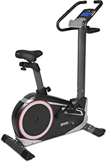 SportPlus SP-HT-9600-iE Bicicleta Estática con Aplicación para Smartphone, Google Street View, Potenciómetro, Unisex Adult, Multicolor, 102 x 51 x 140 cm