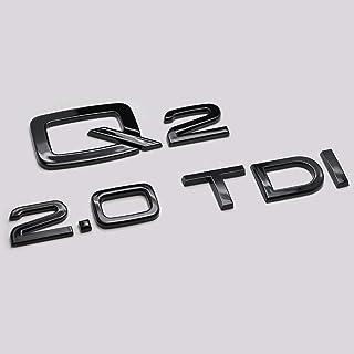 FNWD Numeri di Lettere dellemblema del Distintivo del Bagagliaio Posteriore Nero Lucido A6 TDI compatibili per i Modelli A6