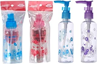 E Shopping® 100ml Empty Printed bottle for Sanitizer/Lotion/Cream/Soap Dispenser (Multi Purpose) with Pump Action Lock - (...