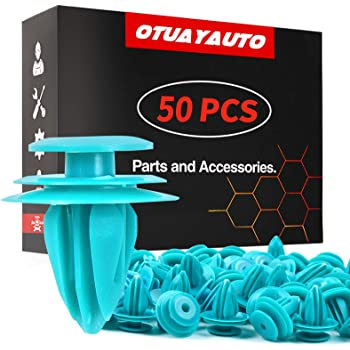 OTUAYAUTO 50PCS for Toyota Trim Door Panel Clips Trim Panel Retainer for Tacoma, Tundra, Camry, Corolla, Avalon, Sienna, Replace OEM: 90467-10188