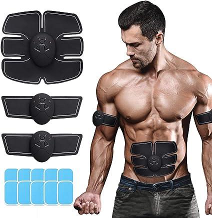 Massage Musculaire Bras Multiple Endroit Fitness ou Cuisses CHANDA Ceinture Abdominale EMS Muscle Stimulateur Appareil Abdominal,Electrostimulateur Musculaire 6 Modes /& 10 Niveaux