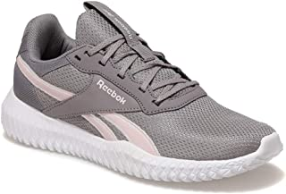 Reebok Flexagon Energy Tr 2.0 Contrast Sole Lace-Up Two Tone Training Shoes for Women - Gravity Grey and Classic Pink, 36