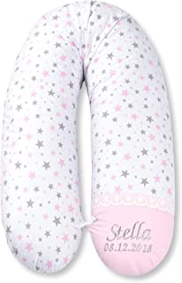 Amilian/® BEZUG f/ür Stillkissen Baby Lagerungskissen Lang Seitenschl/äferkissen 170 cm P/ünktchen Lila ELEFANT