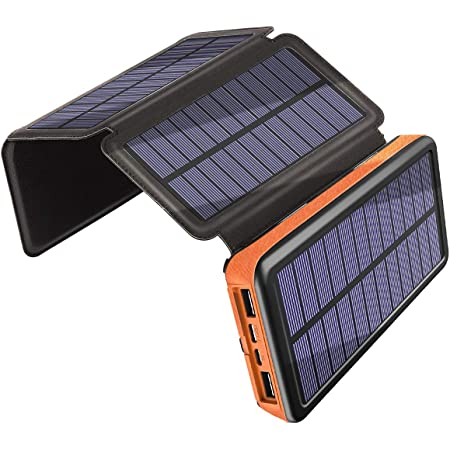 Solar Ladegerät 25000mah Draussen Energiebank Mit 4 Elektronik
