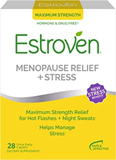 Estroven Maximum Strength+Energy | Menopause Relief Dietary Supplement | Safe Multi-Symptom Relief* | Helps Reduce Hot Flashes & Night Sweats* | Helps Manage Irritability & Boost Energy | 28 Caplets