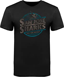 Old Time Hockey San Jose Sharks Garment Dyed Coil Charcoal T-Shirt