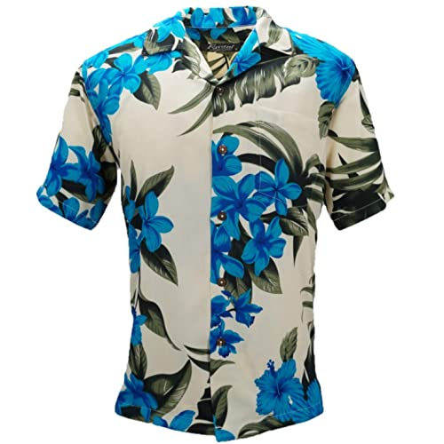 af305b91de50 Tropical Luau Beach Floral Print Men's Hawaiian Aloha Shirt