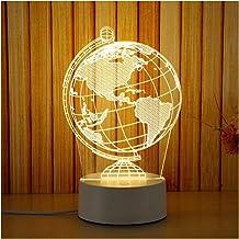 WEIJIAMY Nachtlampje 3D Plaat LED Lamp Creatieve 3D LED Nachtverlichting Nieuwigheid Illusie Nachtlampje 3D Illusie Tafell...