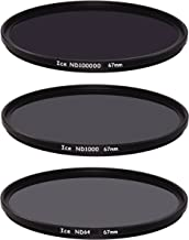 ICE Extreme ND Filter Set 67mm ND100000 ND1000 ND64 Neutral Density 67 16.5,10, 6 Stop Optical Glass