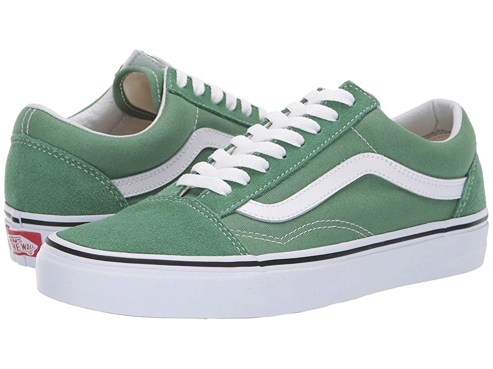 Vans Old Skooltm (Deep Grass Green/True White) Skate Shoes