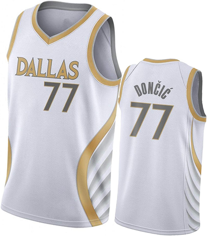 Luka Doncic Tirador Transpirable Sin Mangas Sportwear 2020-21 Dallas Mavericks New Basketball Jersey # 77 Jersey de Baloncesto