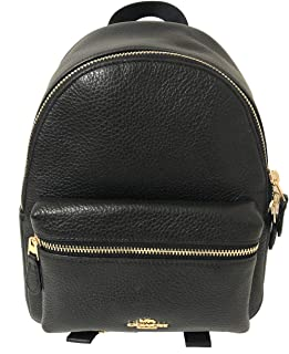 coach mini leather backpack
