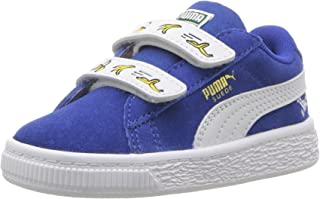 PUMA Kids' Minions Suede Velcro Sneaker