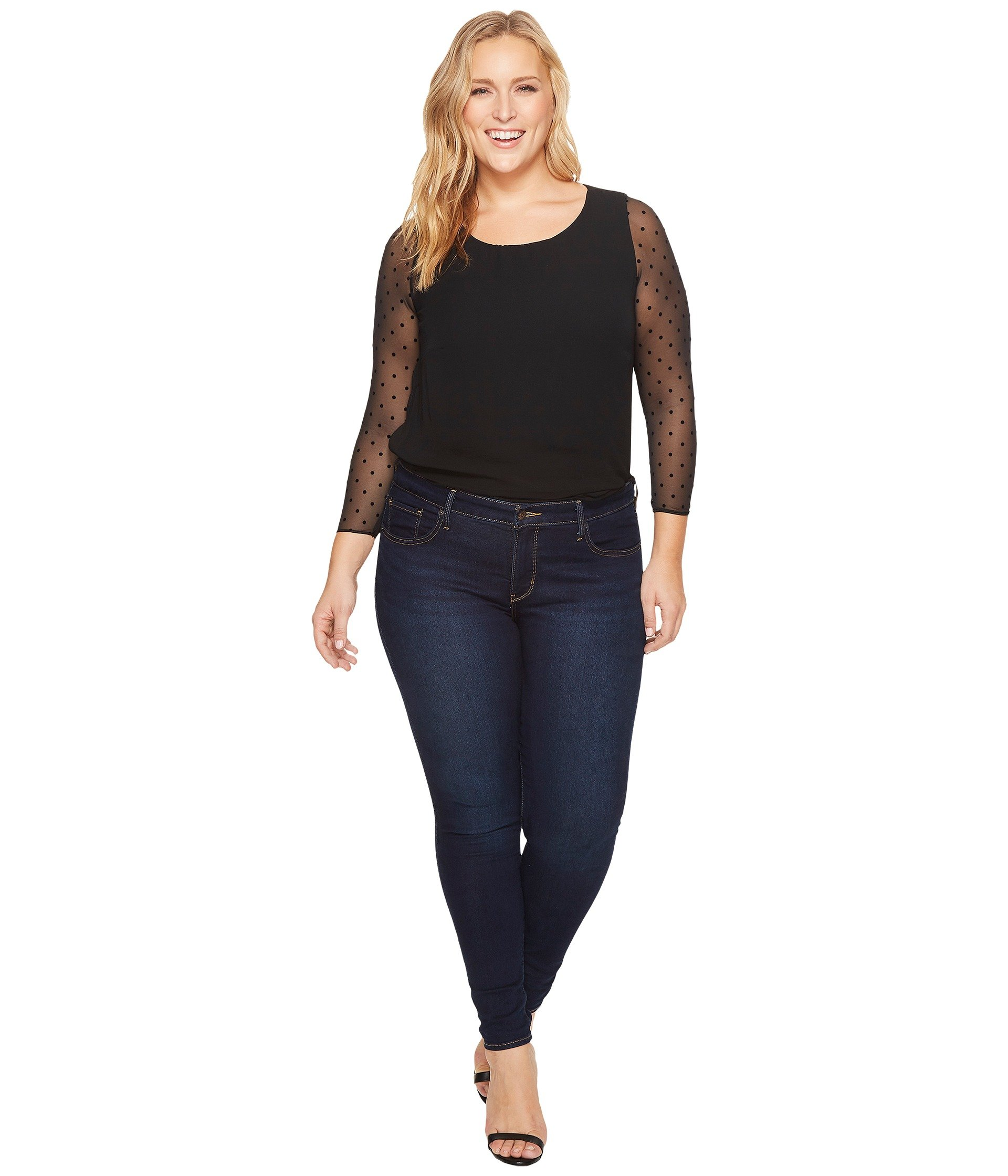 Spanx plus size sheer long sleeve bodysuit at for Plus size spanx for wedding dress