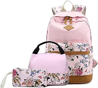 Abshoo Lightweight Canvas Cute Girls Bookbags for School Teen Girls Backpacks With Lunch Bag