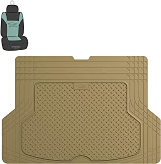 FH Group F16406 Premium Trimmable Rubber Cargo Mat (Tan) with Gift- Universal Fit for Cars Trucks and SUVs