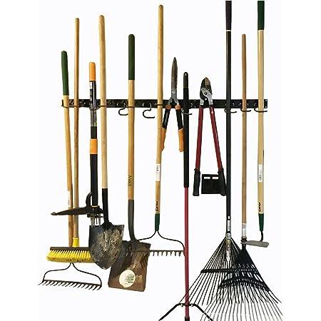 Système de rangement réglable, 120cm, supports muraux pour outils, organiseur mural pour outils, organiseur de garage, organiseur d'outils de jardin, parfaits pour rangement de garage
