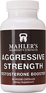 Mahler's Aggressive Strength Testosterone Booster, 90 capsules, 6 Week Supply