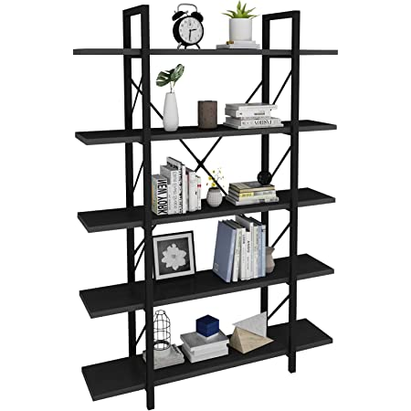 YITAHOME 5 Tier Bookshelf Storage Rack Shelves Organizer Home Office Book Holder