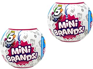 5-Surprise Mini Brands Collectible Capsule Ball by Zuru - 2 Ball Bundle