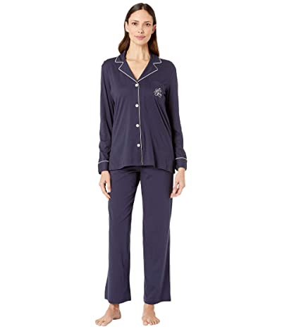 LAUREN Ralph Lauren Hammond Knits Pajama Set (Navy) Women