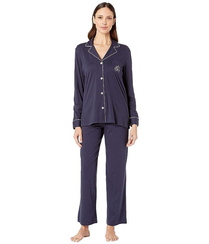LAUREN Ralph Lauren Hammond Knits Pajama Set (Navy) Women
