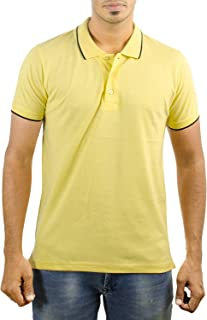 Neuve Carbon Ni- Polo T-Shirts for Men With Black Tipping on Collars and Sleeves