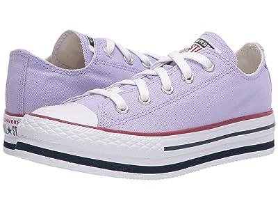 Converse Kids Chuck Taylor(r) All Star(r) Platform EVA (Little Kid/Big Kid) (Moonstone Violet/Midnight Navy) Girl