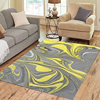 Pinbeam Area Rug Marbling Writing Endpapers in Bookbinding and Stationery Abstract Home Decor Floor Rug 3` x 5` Carpet