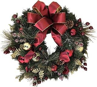 The Wreath Depot Easton Christmas Wreath, 22 Inch Elegant Designer Quality