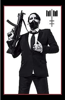 Marilyn Manson Fabric Poster Flag - Machine Gun